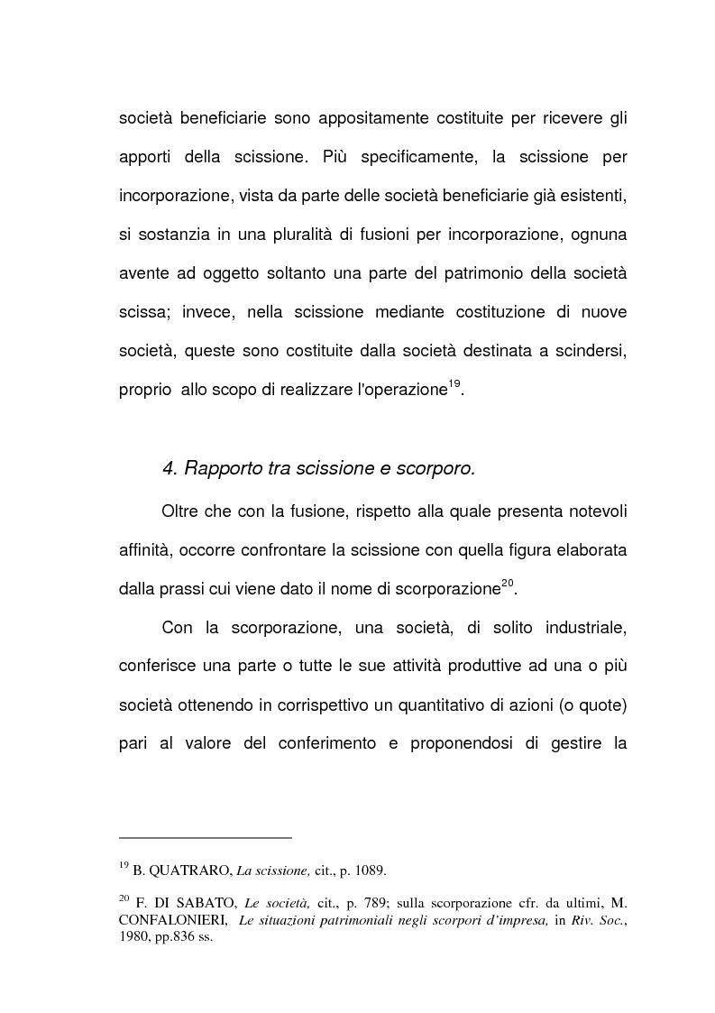 Anteprima della tesi: Scissione di società e assegnazione delle quote o azioni, Pagina 11