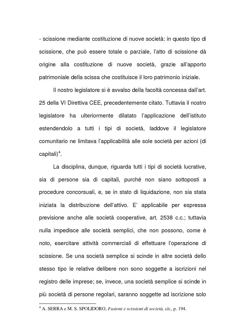 Anteprima della tesi: Scissione di società e assegnazione delle quote o azioni, Pagina 3