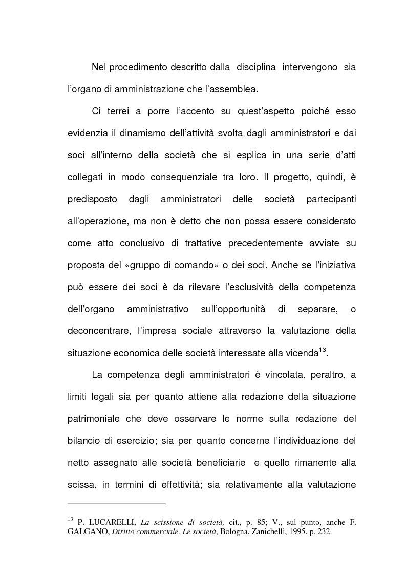 Anteprima della tesi: Scissione di società e assegnazione delle quote o azioni, Pagina 8