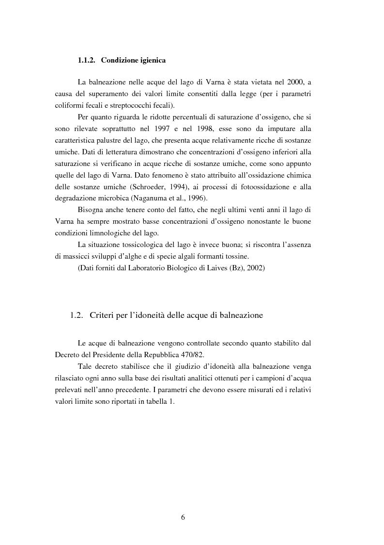 Anteprima della tesi: Analisi dei ribotipi dei ceppi di Escherichia coli isolati dal lago di Varna (Bz), Pagina 3