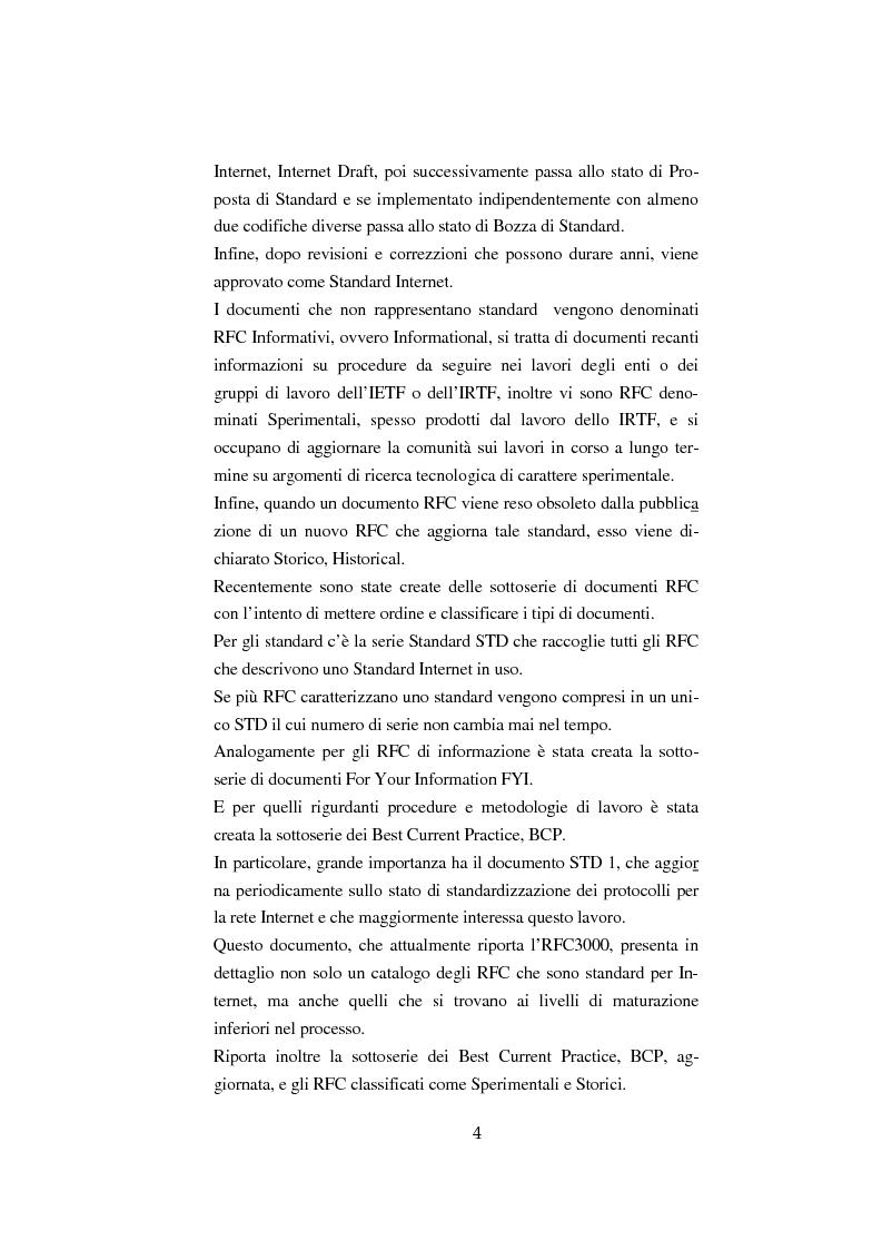 Anteprima della tesi: Processo di formazione degli standard per la rete Internet, Pagina 3