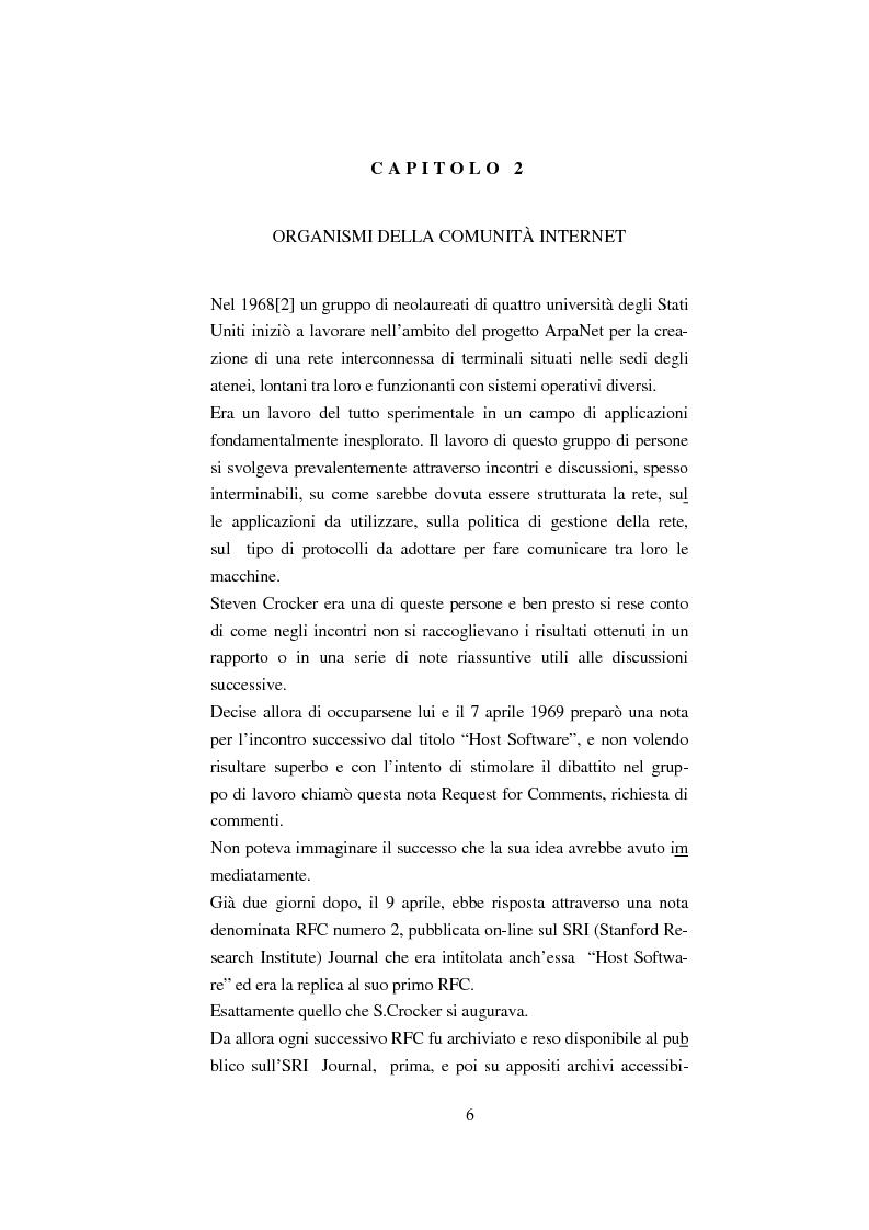 Anteprima della tesi: Processo di formazione degli standard per la rete Internet, Pagina 5