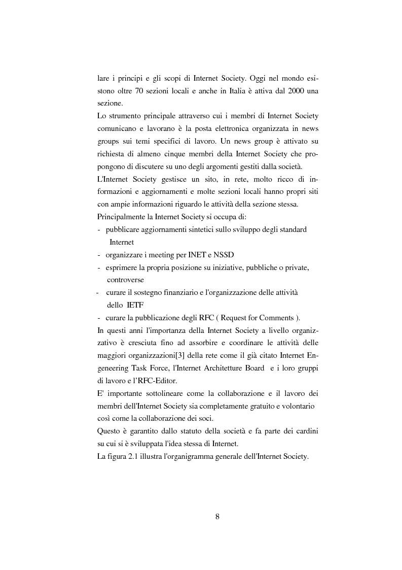 Anteprima della tesi: Processo di formazione degli standard per la rete Internet, Pagina 7