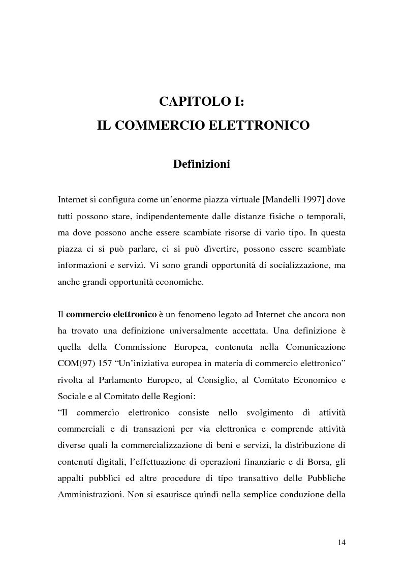 Anteprima della tesi: Il ruolo della logistica nello sviluppo del commercio elettronico, Pagina 14
