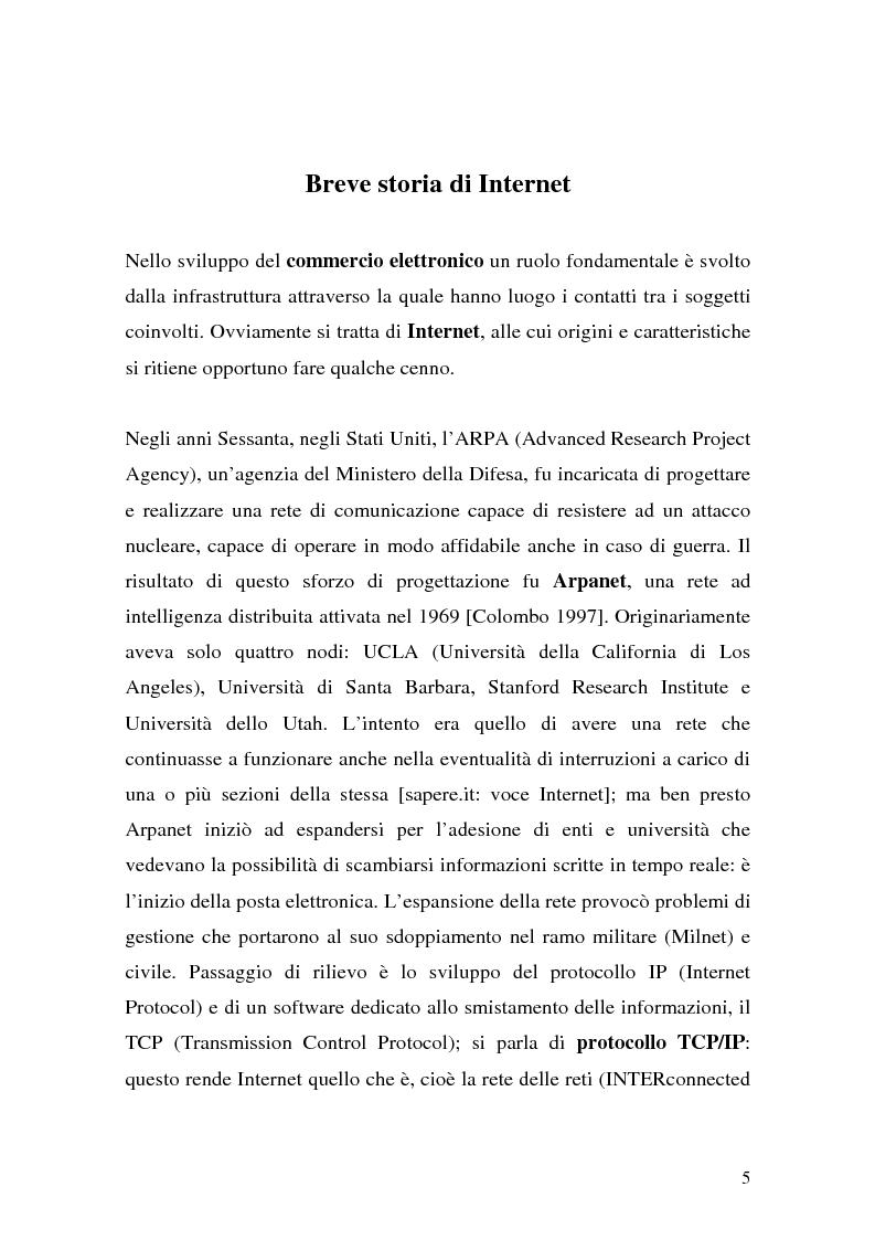 Anteprima della tesi: Il ruolo della logistica nello sviluppo del commercio elettronico, Pagina 5