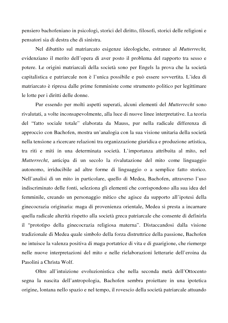 Anteprima della tesi: La costruzione di un mito. L'influenza di JJ Bachofen sul pensiero contemporaneo, Pagina 2