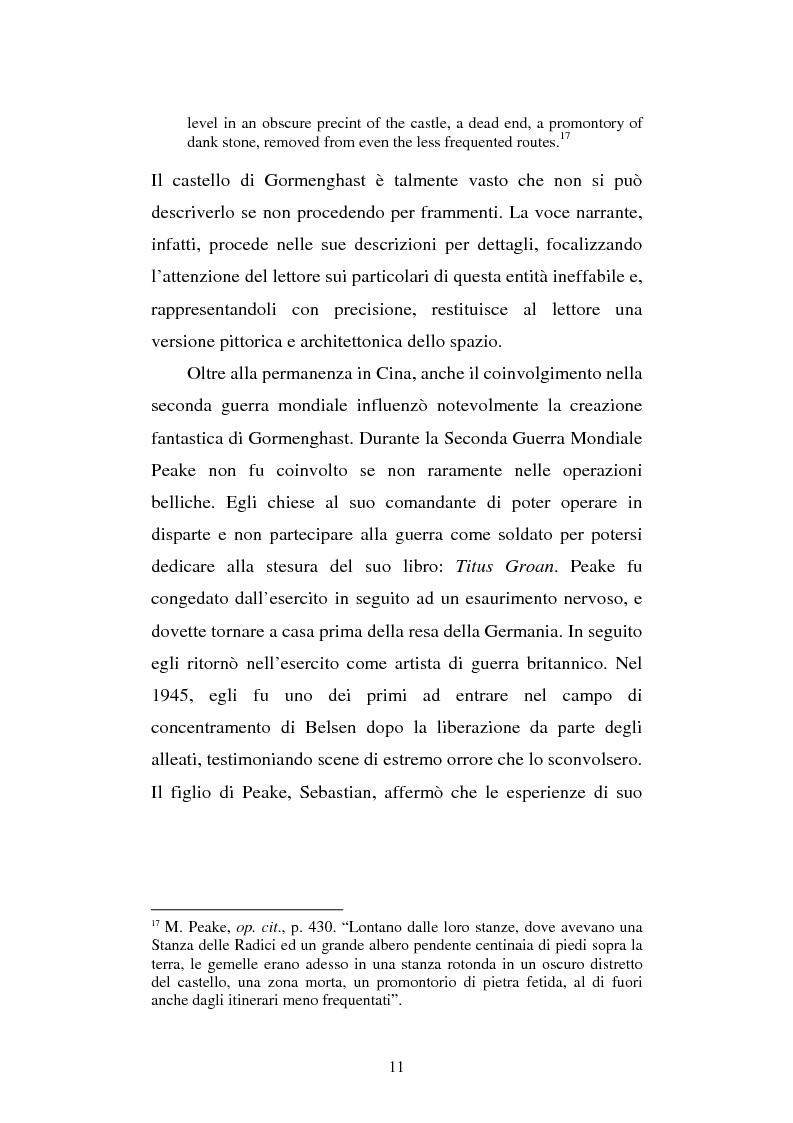 Anteprima della tesi: Miles of rambling stones. L'immaginario spaziale nella trilogia di Gormenghast, Pagina 10
