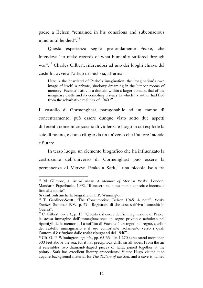 Anteprima della tesi: Miles of rambling stones. L'immaginario spaziale nella trilogia di Gormenghast, Pagina 11