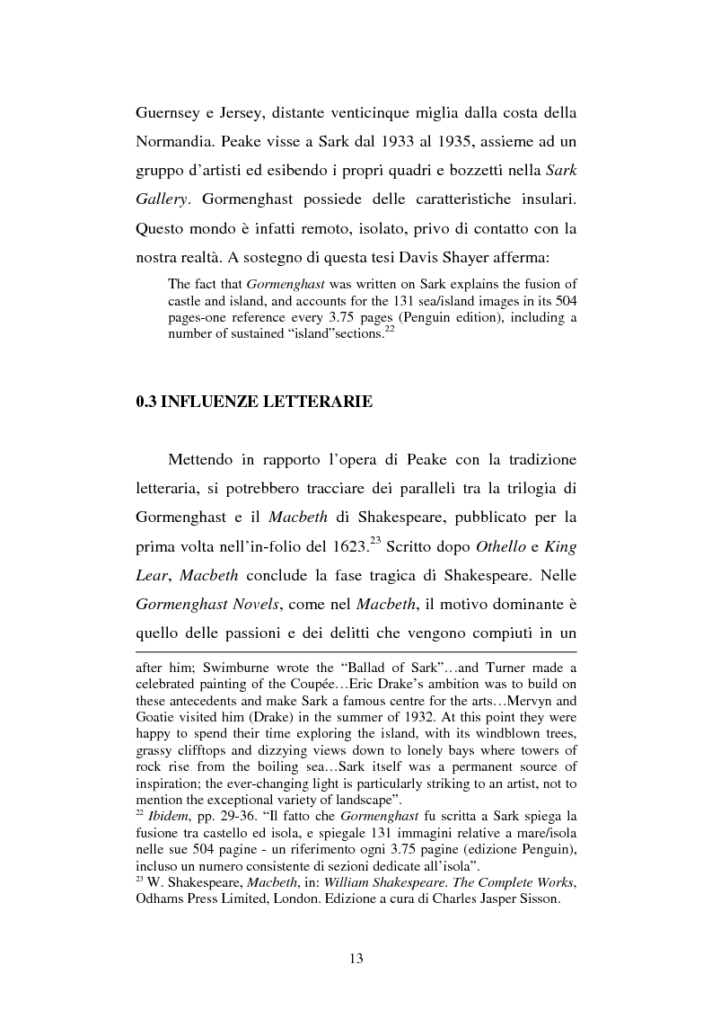 Anteprima della tesi: Miles of rambling stones. L'immaginario spaziale nella trilogia di Gormenghast, Pagina 12