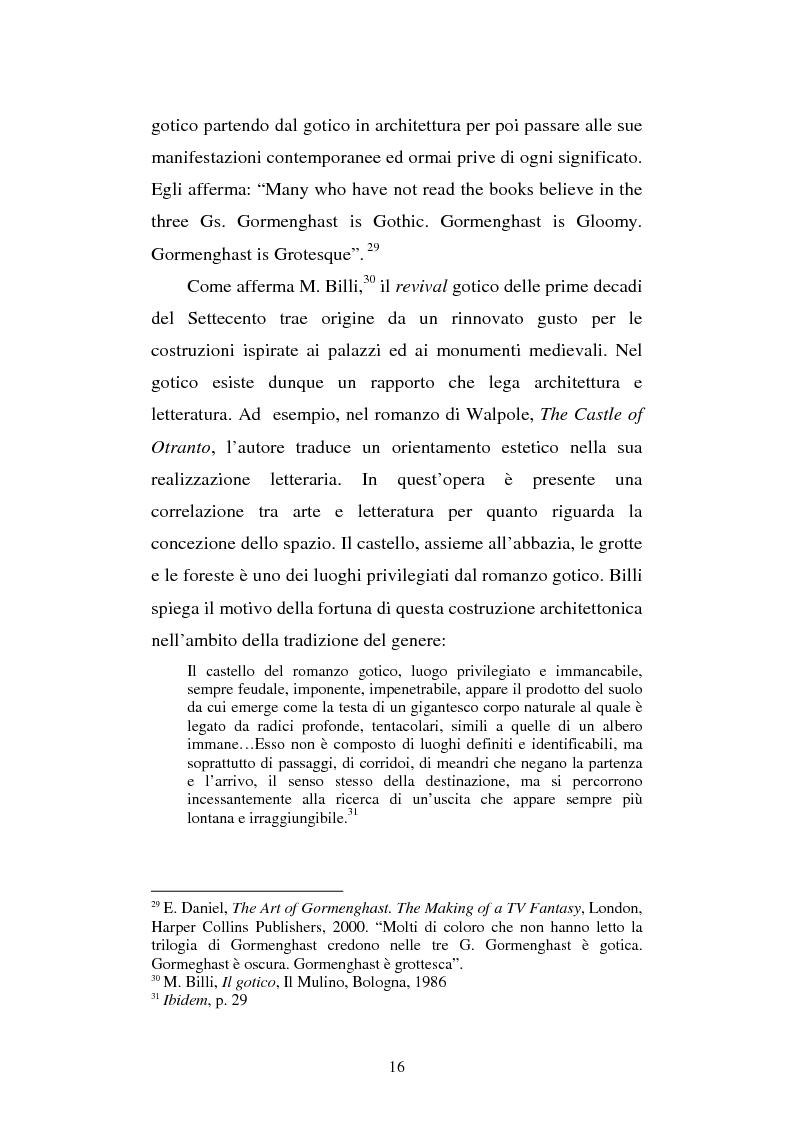 Anteprima della tesi: Miles of rambling stones. L'immaginario spaziale nella trilogia di Gormenghast, Pagina 15