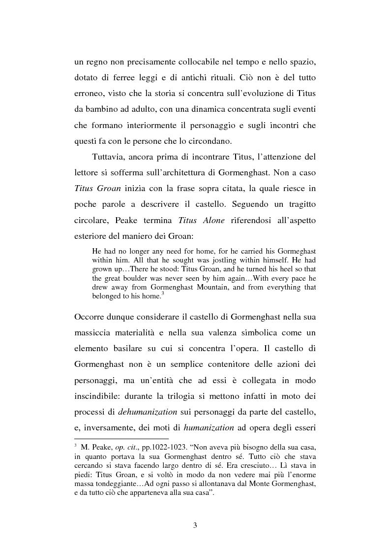 Anteprima della tesi: Miles of rambling stones. L'immaginario spaziale nella trilogia di Gormenghast, Pagina 2