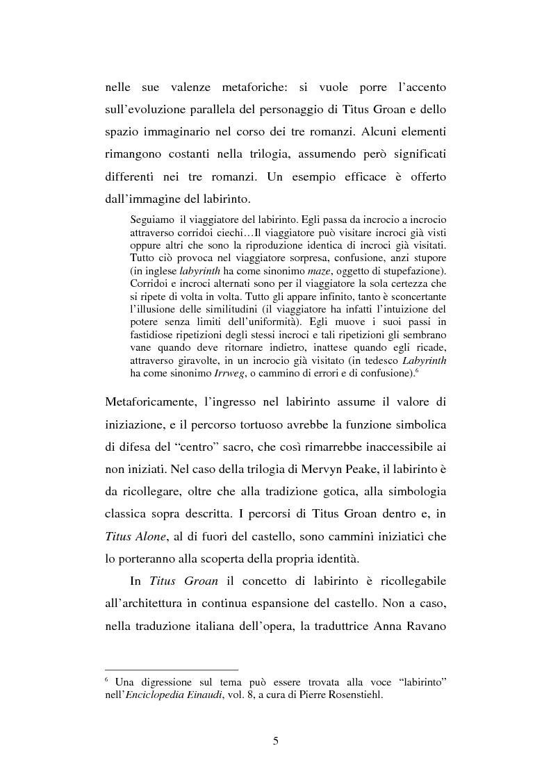 Anteprima della tesi: Miles of rambling stones. L'immaginario spaziale nella trilogia di Gormenghast, Pagina 4