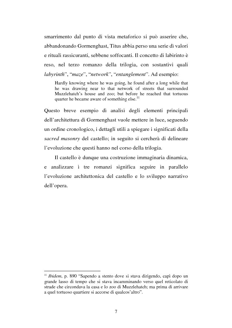 Anteprima della tesi: Miles of rambling stones. L'immaginario spaziale nella trilogia di Gormenghast, Pagina 6