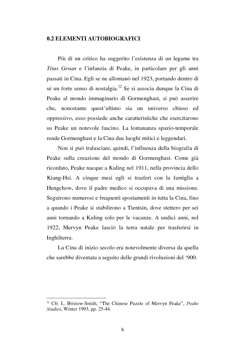 Anteprima della tesi: Miles of rambling stones. L'immaginario spaziale nella trilogia di Gormenghast, Pagina 7