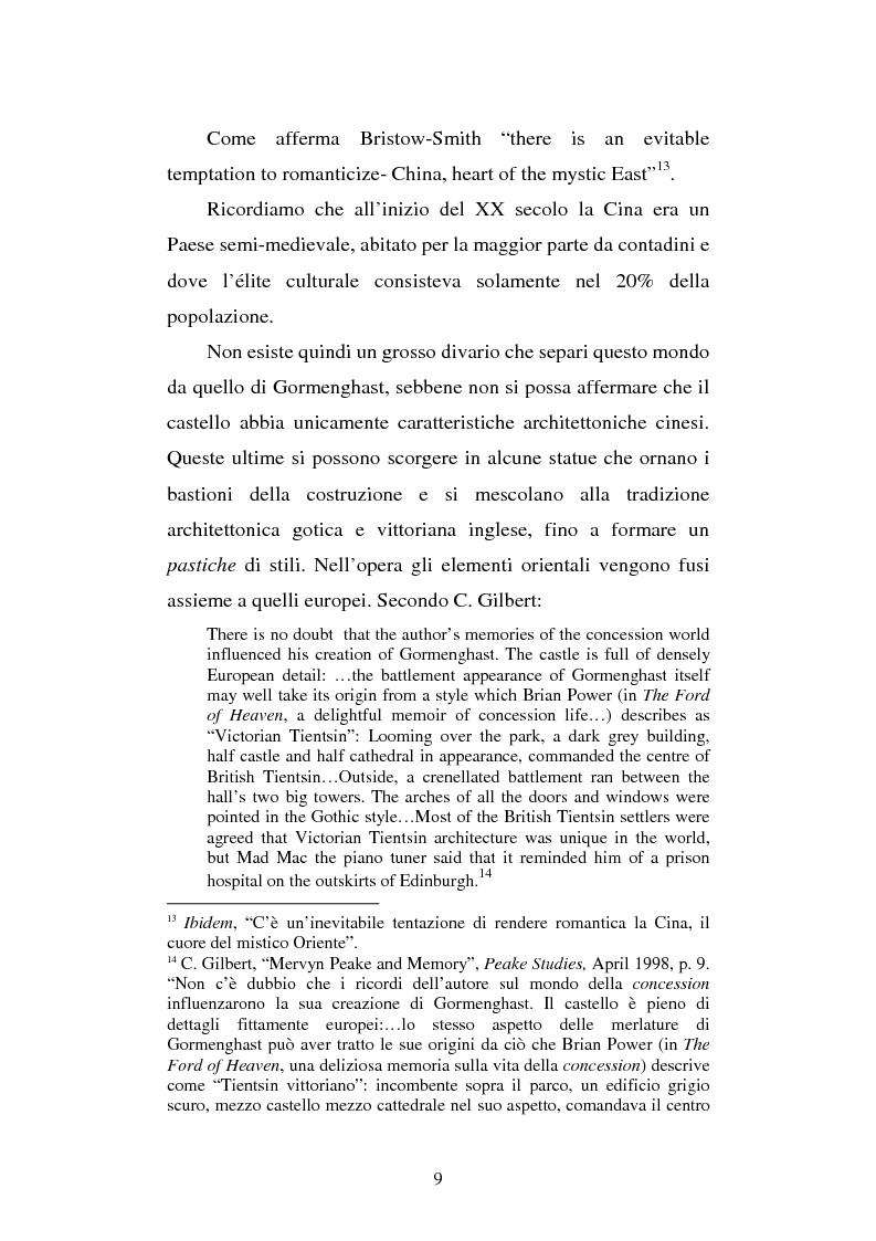 Anteprima della tesi: Miles of rambling stones. L'immaginario spaziale nella trilogia di Gormenghast, Pagina 8