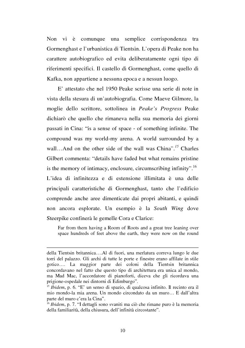 Anteprima della tesi: Miles of rambling stones. L'immaginario spaziale nella trilogia di Gormenghast, Pagina 9