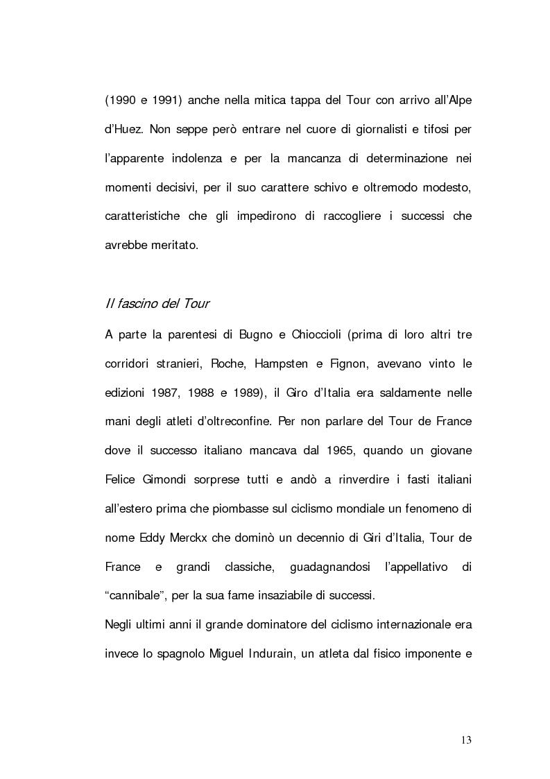Anteprima della tesi: Marco Pantani: costruzione ed evoluzione del mito mediatico, Pagina 11