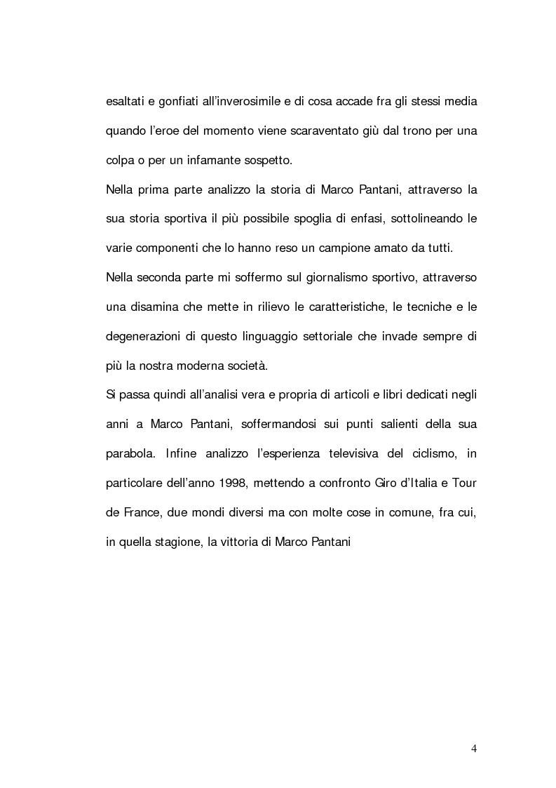 Anteprima della tesi: Marco Pantani: costruzione ed evoluzione del mito mediatico, Pagina 2