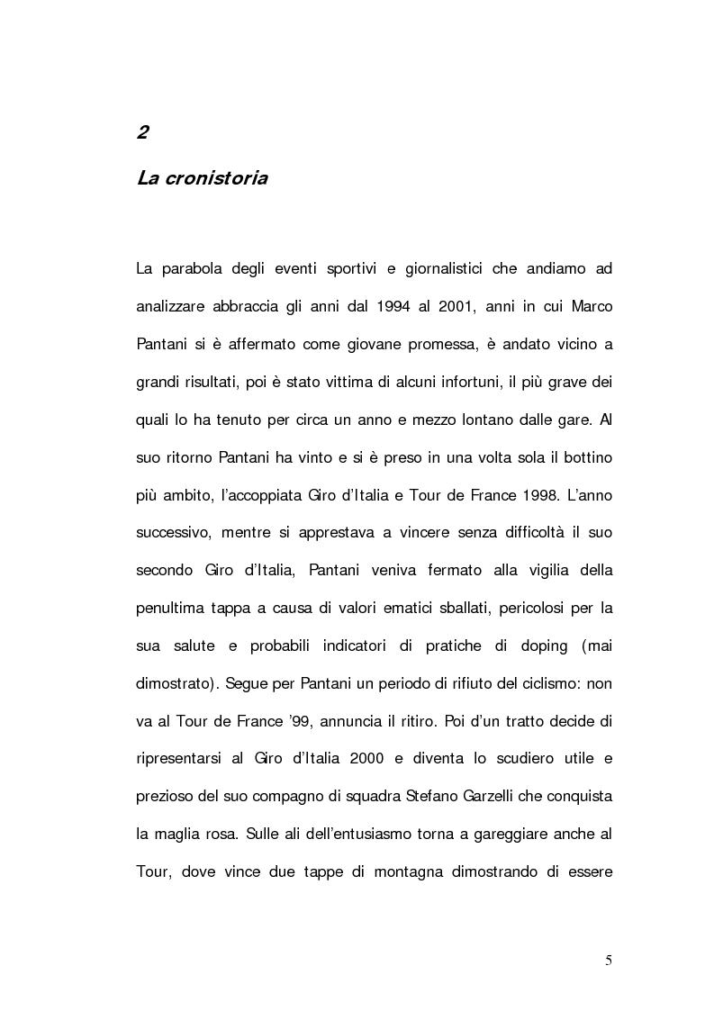 Anteprima della tesi: Marco Pantani: costruzione ed evoluzione del mito mediatico, Pagina 3