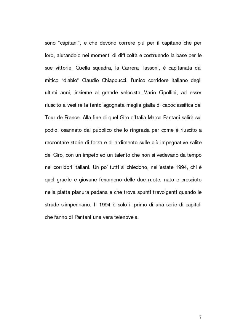 Anteprima della tesi: Marco Pantani: costruzione ed evoluzione del mito mediatico, Pagina 5