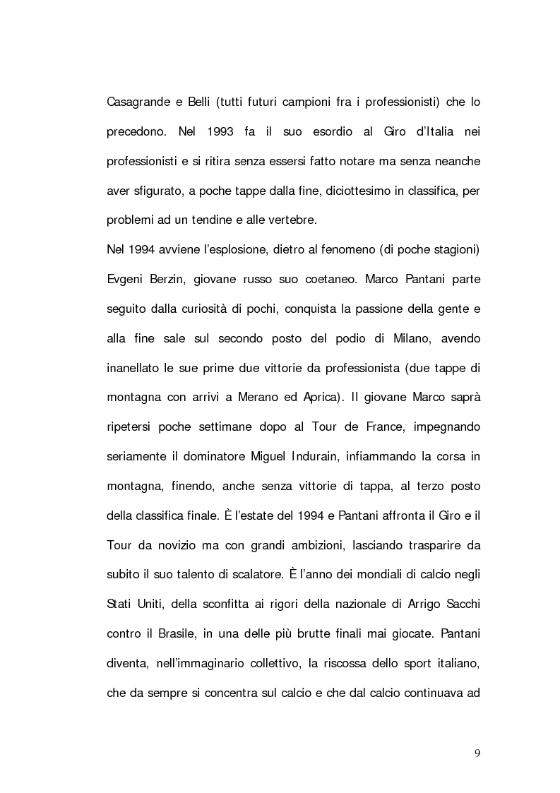 Anteprima della tesi: Marco Pantani: costruzione ed evoluzione del mito mediatico, Pagina 7