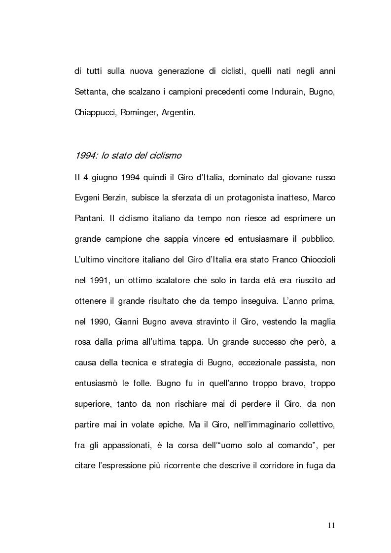 Anteprima della tesi: Marco Pantani: costruzione ed evoluzione del mito mediatico, Pagina 9