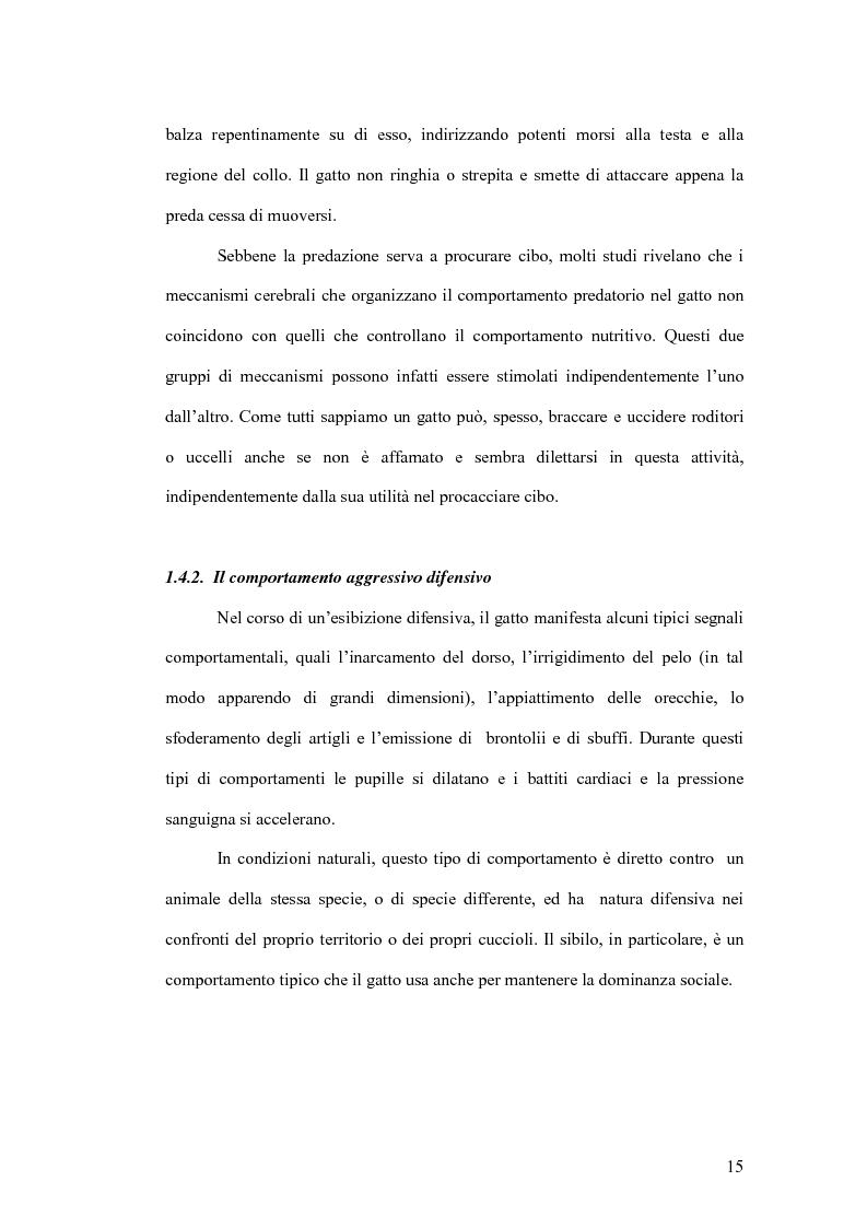Anteprima della tesi: Basi neurobiologiche del comportamento aggressivo, Pagina 15