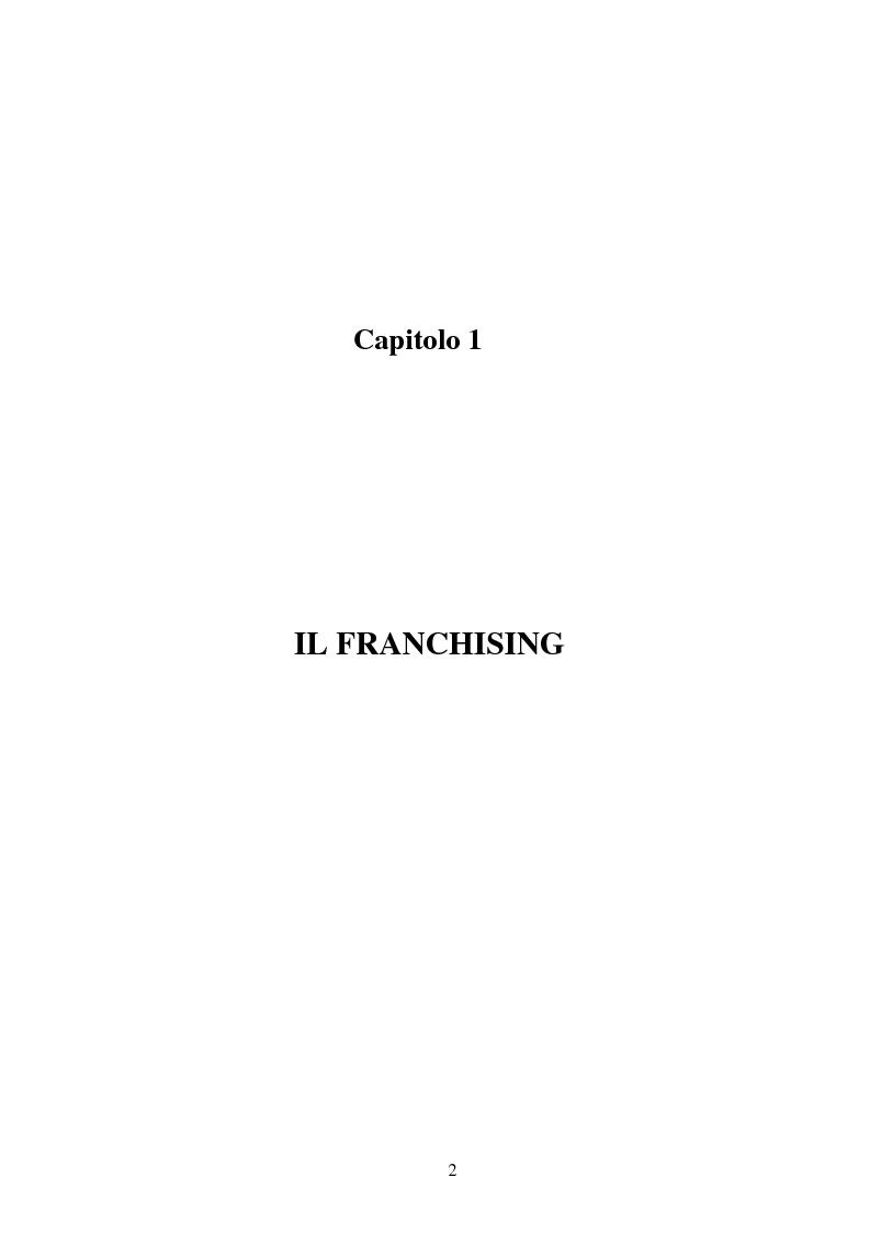 Anteprima della tesi: Il franchising nel turismo: il caso C.T.S (Centro Turistico Studentesco e Giovanile), Pagina 2