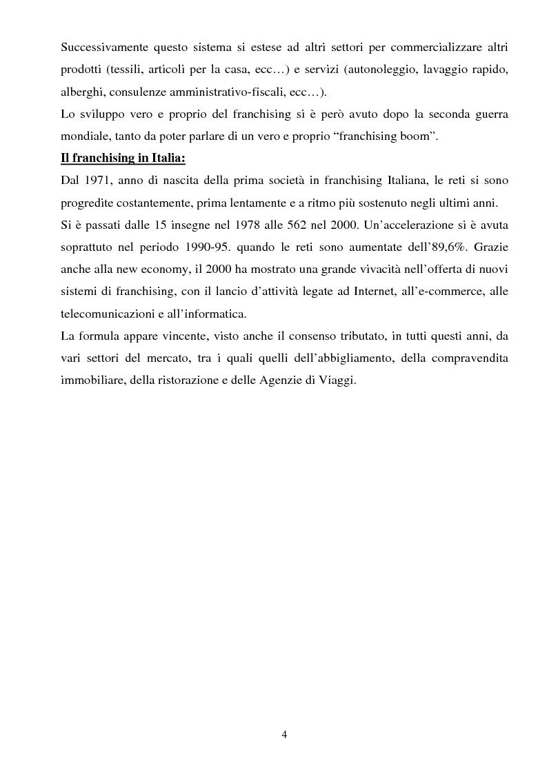 Anteprima della tesi: Il franchising nel turismo: il caso C.T.S (Centro Turistico Studentesco e Giovanile), Pagina 4