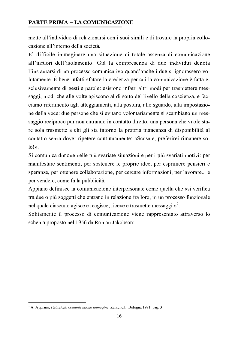 Anteprima della tesi: La comunicazione nelle affissioni, Pagina 3