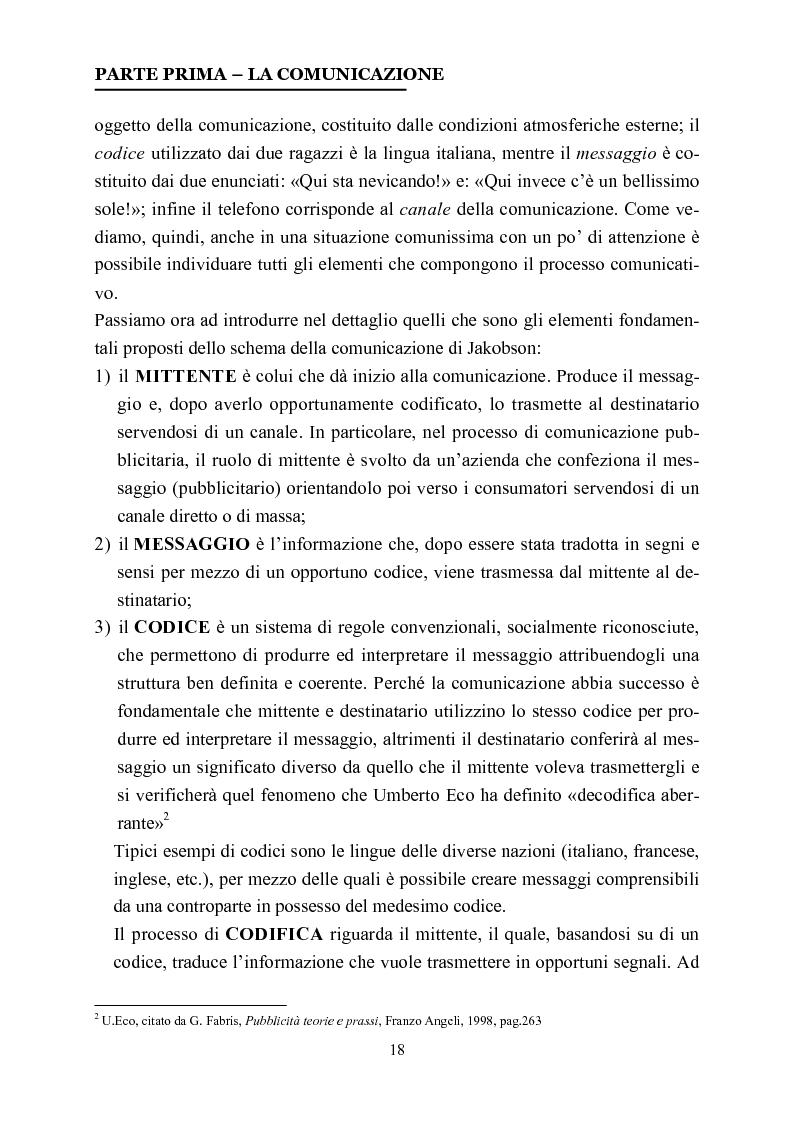 Anteprima della tesi: La comunicazione nelle affissioni, Pagina 5