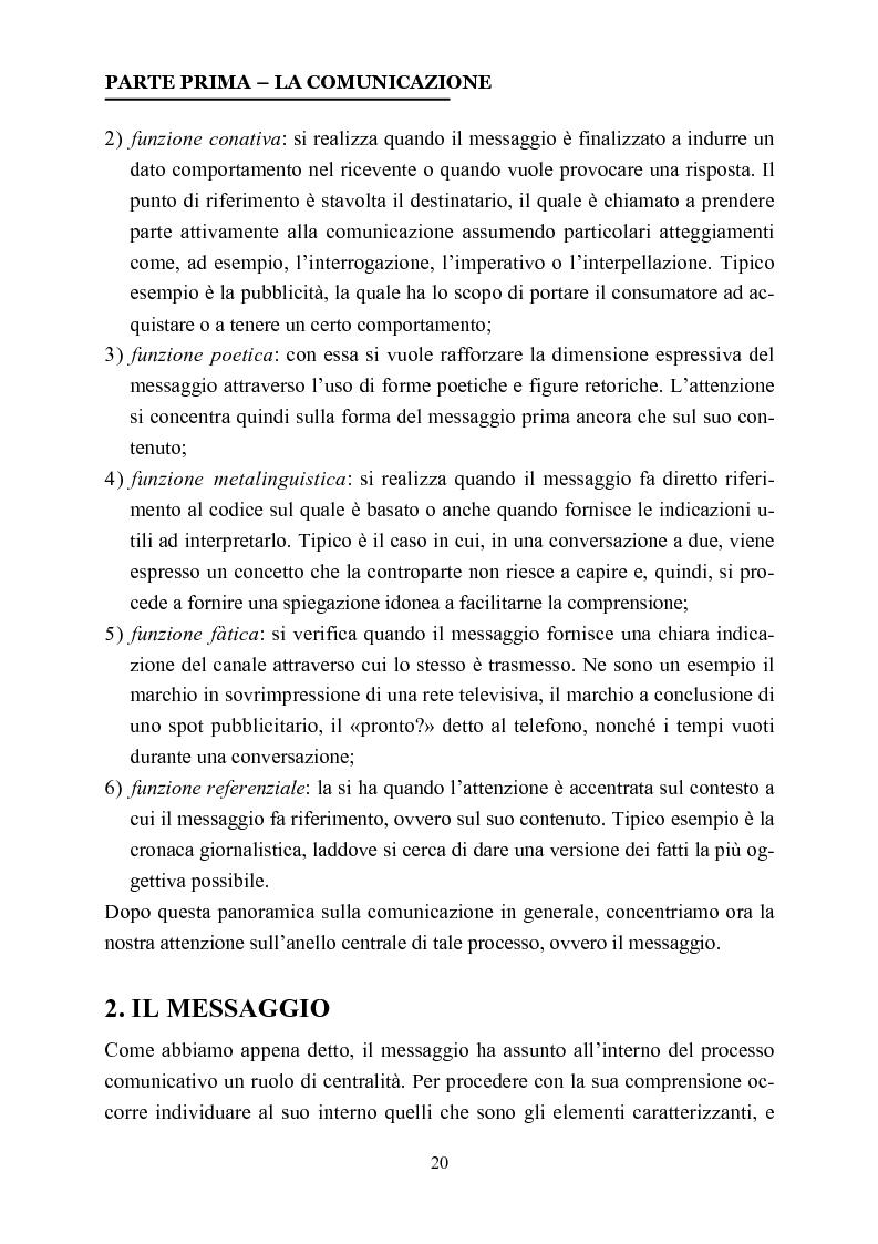 Anteprima della tesi: La comunicazione nelle affissioni, Pagina 7