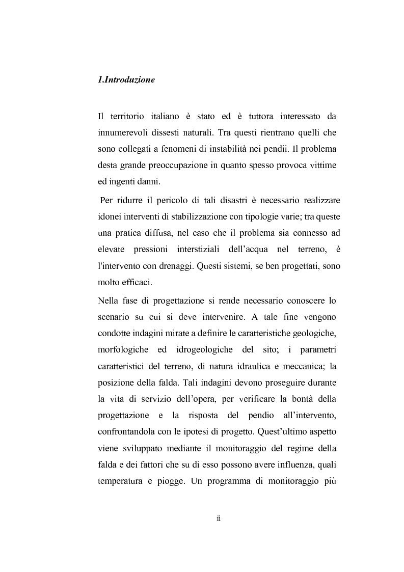 Anteprima della tesi: Modellazione dell'abbassamento della falda in un pendio instabile in argilla a struttura complessa, Pagina 1