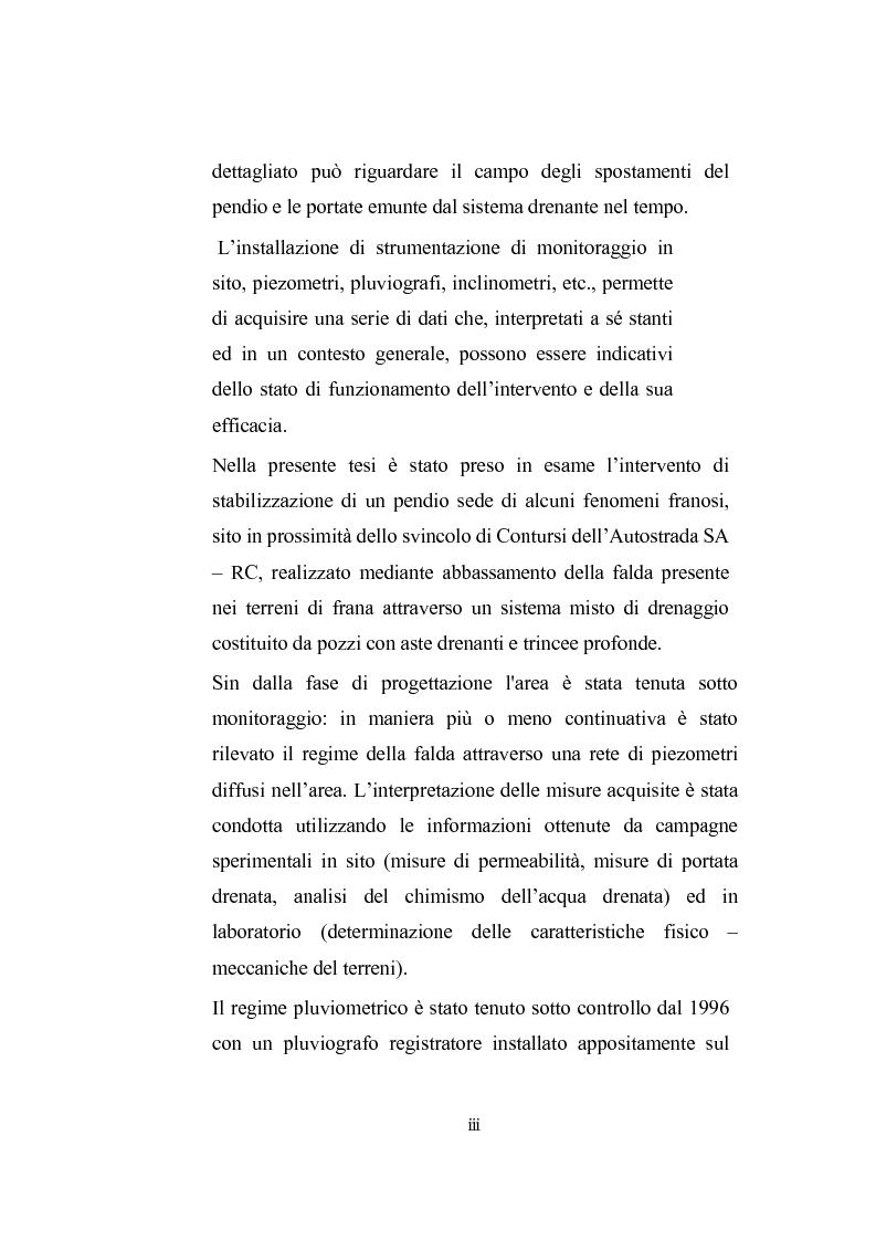 Anteprima della tesi: Modellazione dell'abbassamento della falda in un pendio instabile in argilla a struttura complessa, Pagina 2