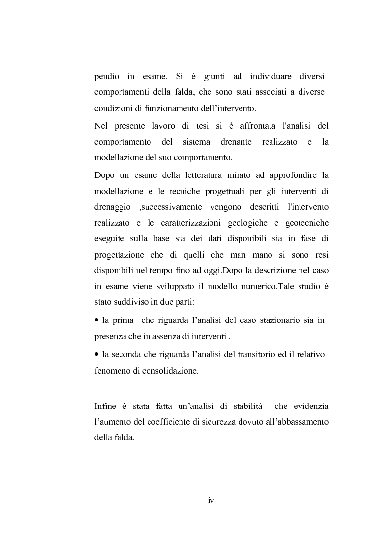 Anteprima della tesi: Modellazione dell'abbassamento della falda in un pendio instabile in argilla a struttura complessa, Pagina 3