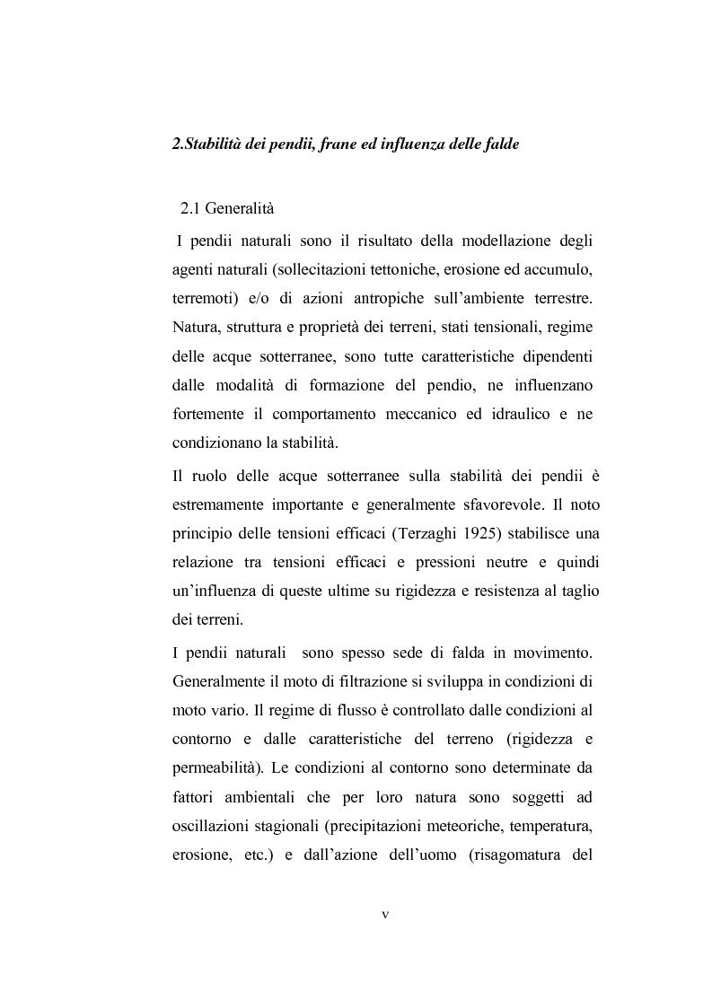 Anteprima della tesi: Modellazione dell'abbassamento della falda in un pendio instabile in argilla a struttura complessa, Pagina 4