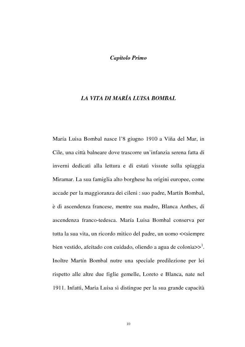 Anteprima della tesi: La personalità e l'opera di Maria Luisa Bombal, Pagina 10