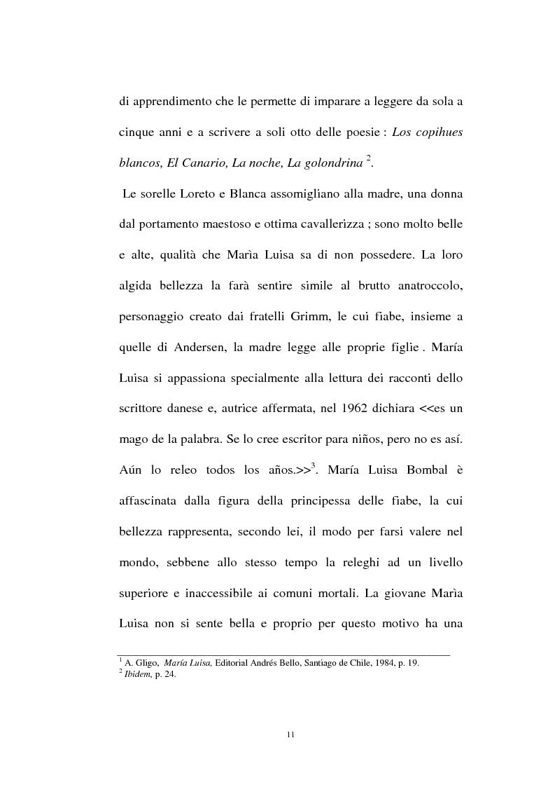 Anteprima della tesi: La personalità e l'opera di Maria Luisa Bombal, Pagina 11