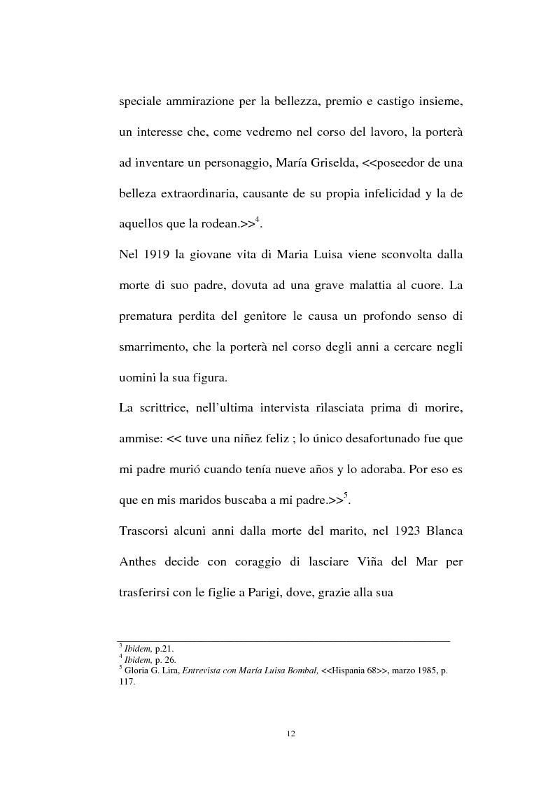 Anteprima della tesi: La personalità e l'opera di Maria Luisa Bombal, Pagina 12
