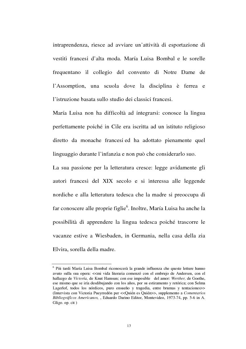 Anteprima della tesi: La personalità e l'opera di Maria Luisa Bombal, Pagina 13