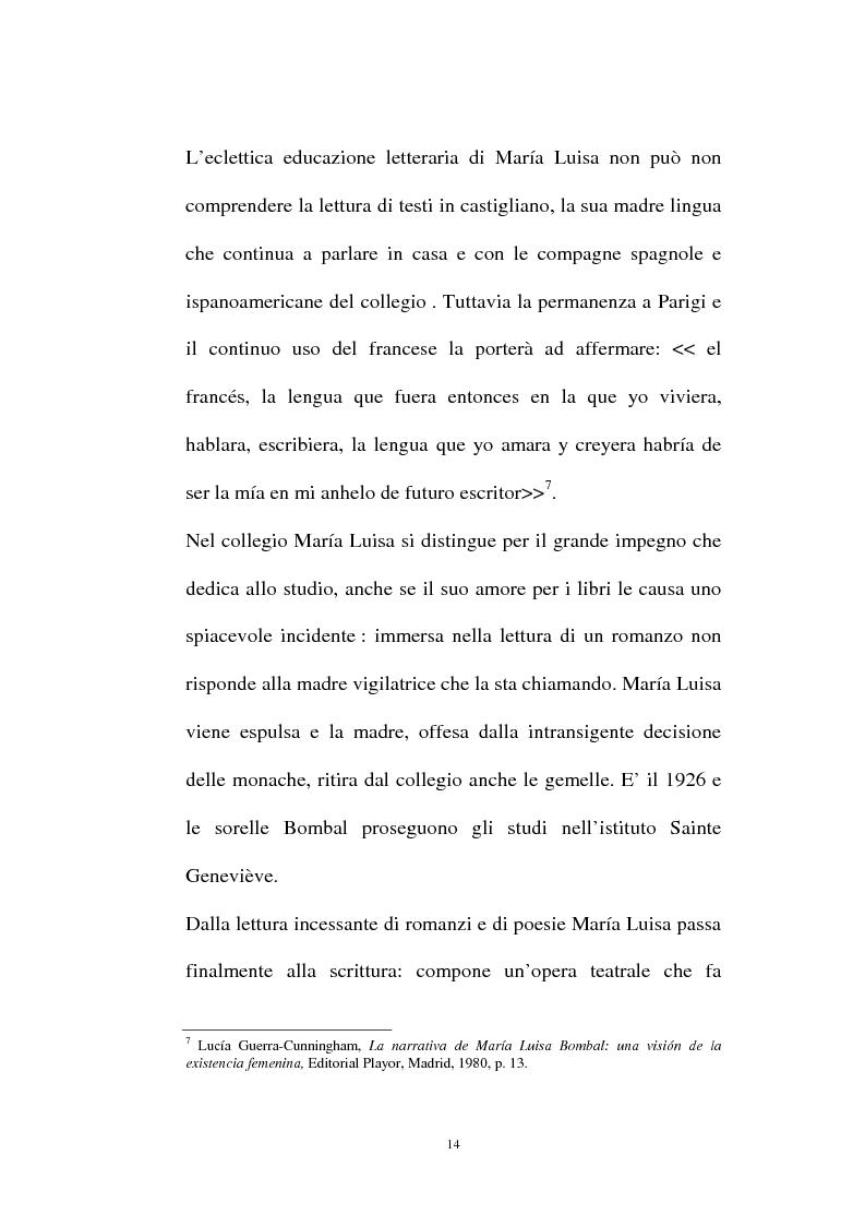 Anteprima della tesi: La personalità e l'opera di Maria Luisa Bombal, Pagina 14