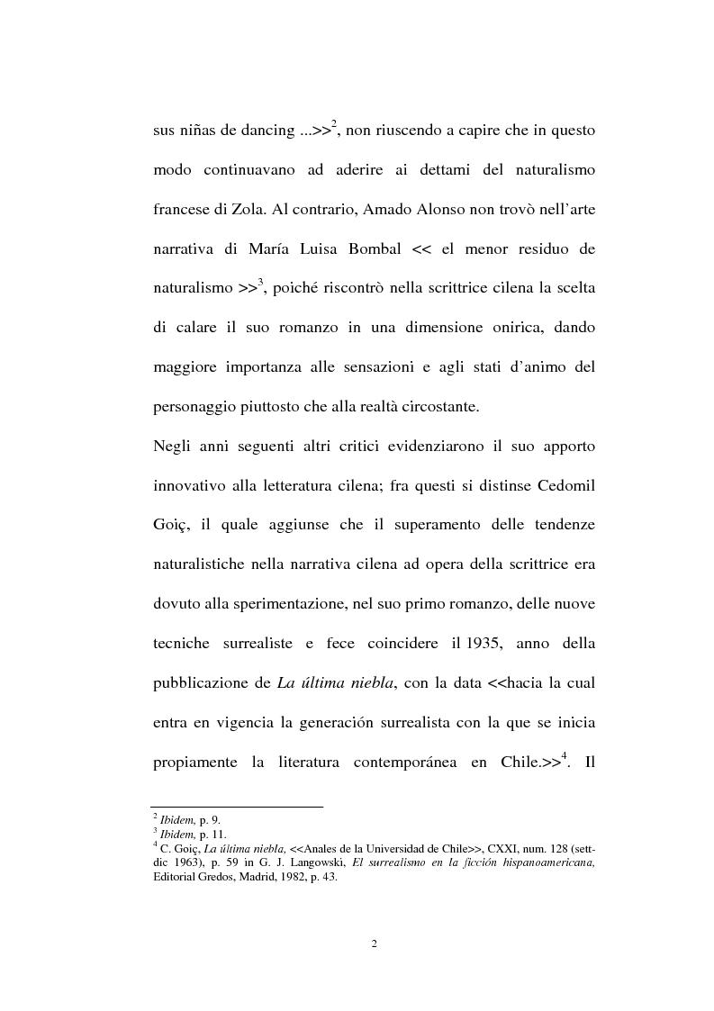 Anteprima della tesi: La personalità e l'opera di Maria Luisa Bombal, Pagina 2