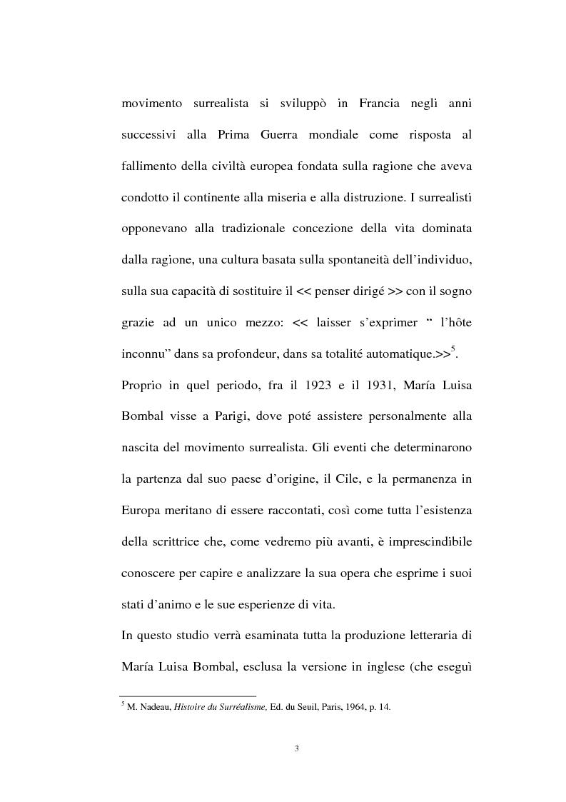 Anteprima della tesi: La personalità e l'opera di Maria Luisa Bombal, Pagina 3