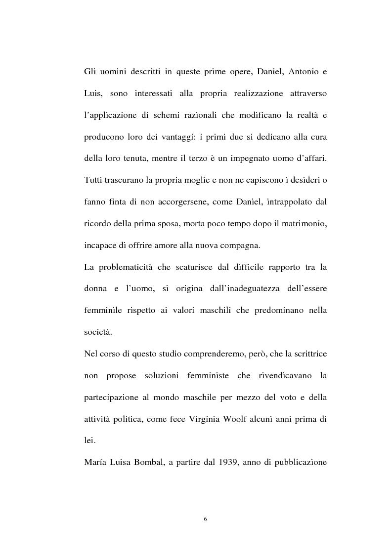 Anteprima della tesi: La personalità e l'opera di Maria Luisa Bombal, Pagina 6