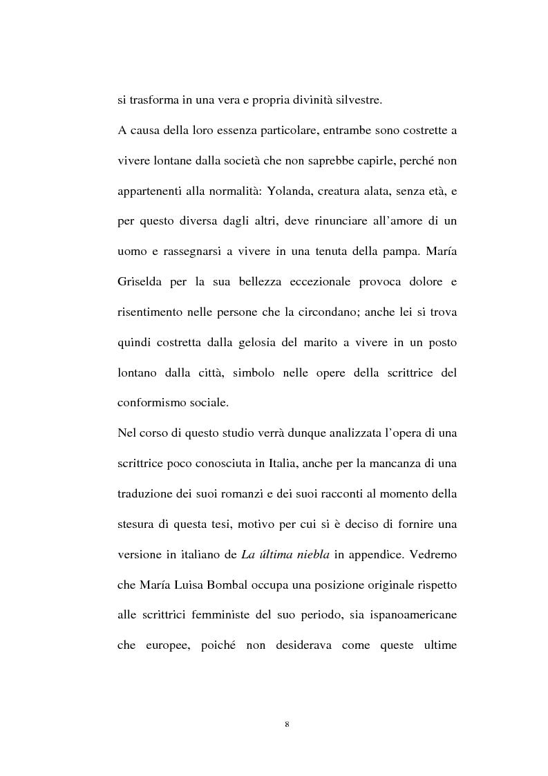 Anteprima della tesi: La personalità e l'opera di Maria Luisa Bombal, Pagina 8