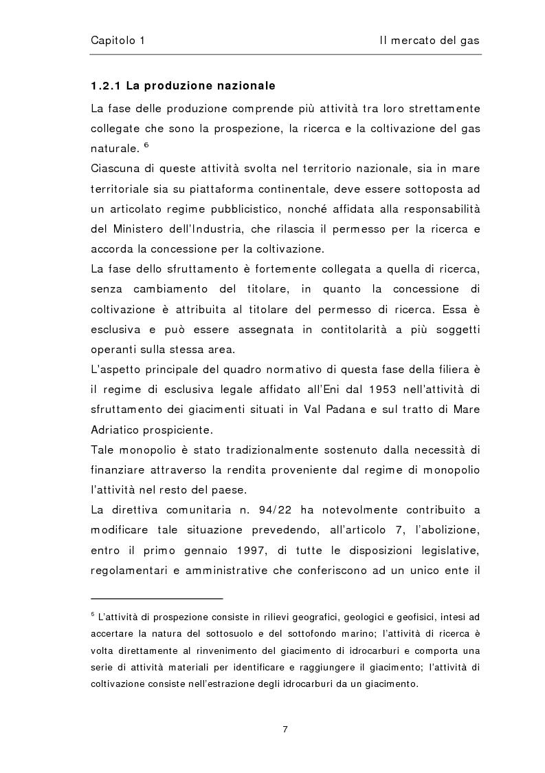 Anteprima della tesi: Liberalizzazione del mercato del gas, Pagina 11