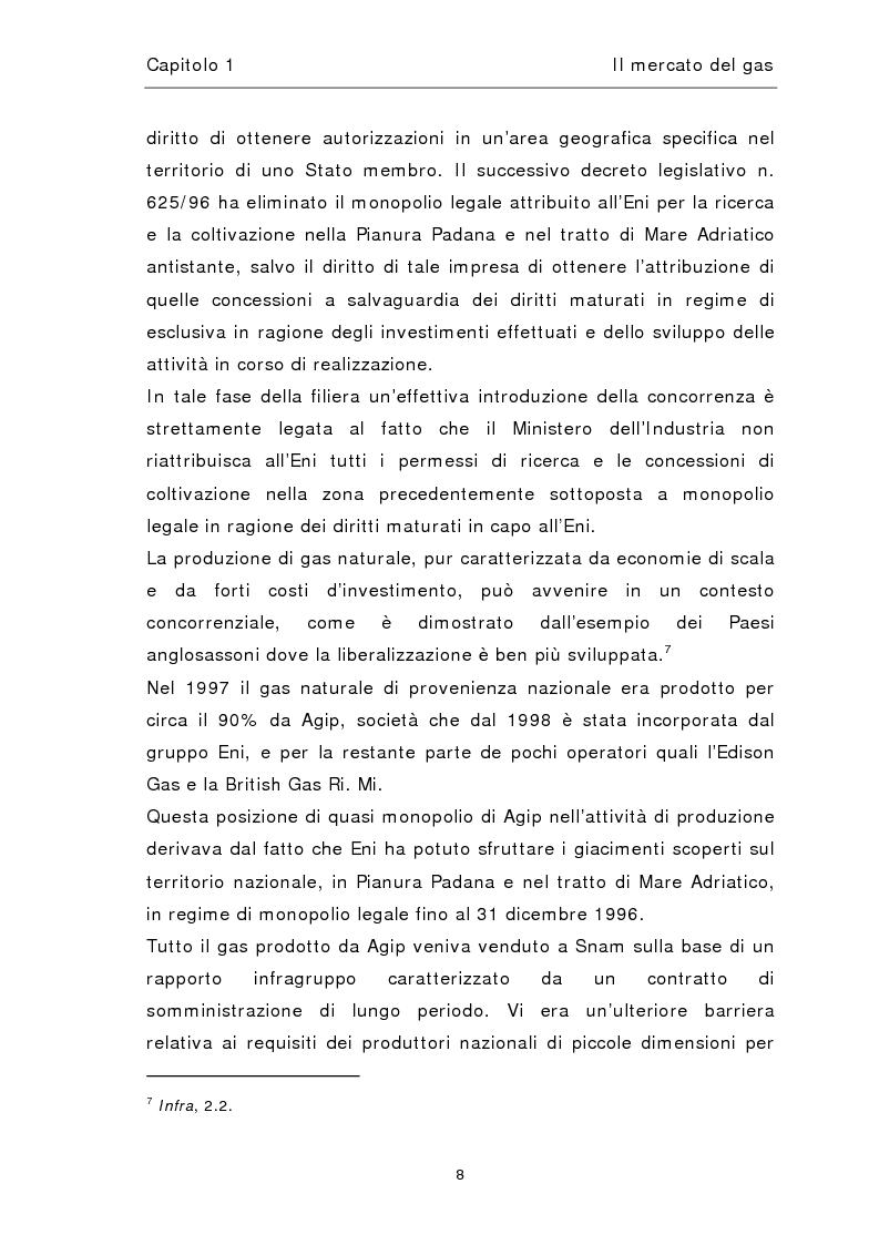 Anteprima della tesi: Liberalizzazione del mercato del gas, Pagina 12