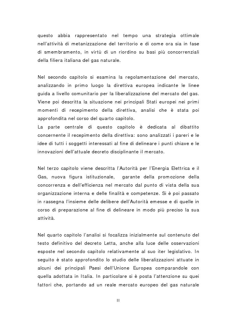 Anteprima della tesi: Liberalizzazione del mercato del gas, Pagina 2