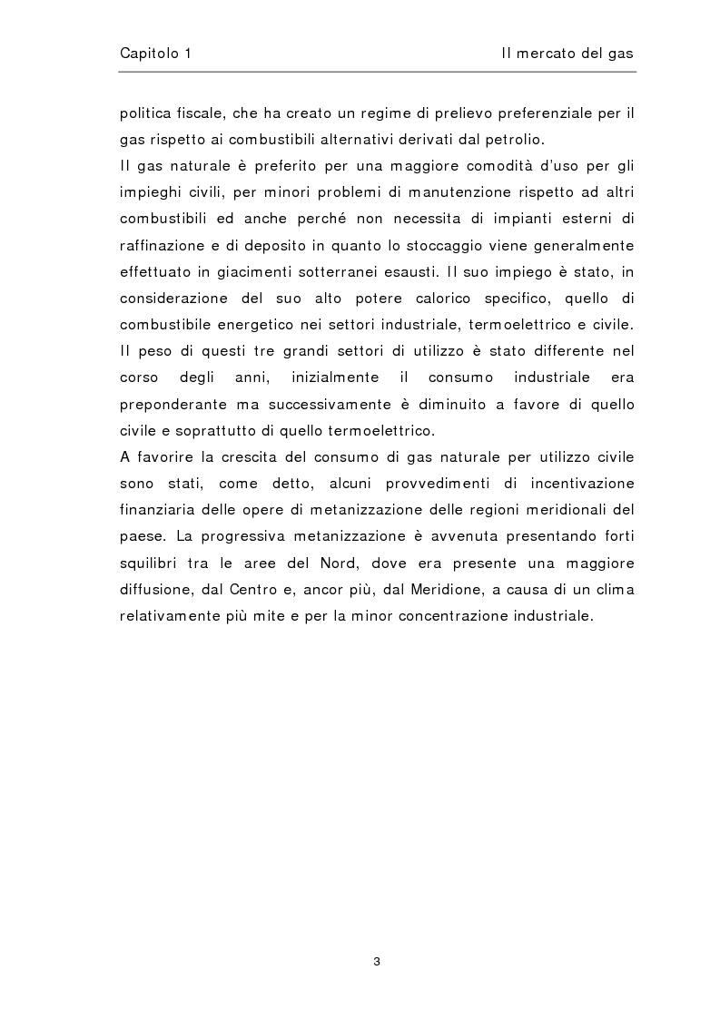 Anteprima della tesi: Liberalizzazione del mercato del gas, Pagina 7