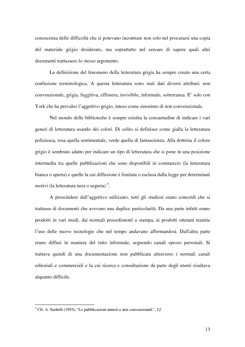 Anteprima della tesi: La letteratura ''grigia'' di fonte amministrativa, Pagina 10